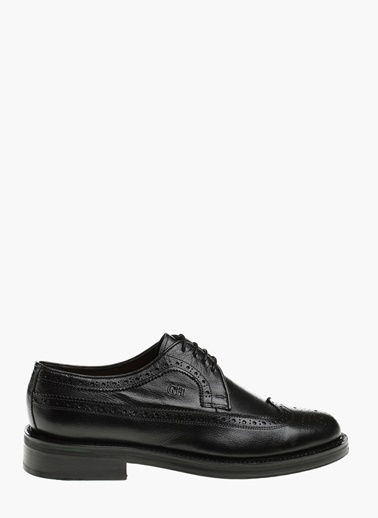George Hogg Deri Oxford Ayakkabı Siyah